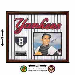 Yogi Berra New York Yankees signed Custom Framed