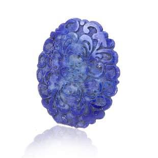 Carved Lapis Lazuli Loose Stone