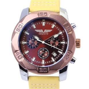 Deporte D-T Brown Men's Sport Watch