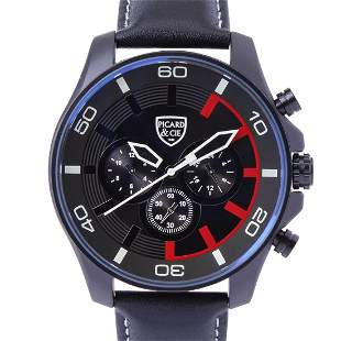 Picard & Cie Excalibur D-T Black On Black Men's Watch