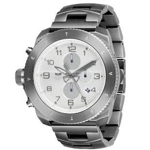 Vestal Men RES004 Restrictor All Silver Dive Watch