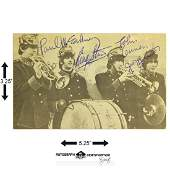 The Beatles signed 3.25x5.25 Black and White