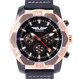 Deporte D-T Rose Gold On Black Men's Sport Watch