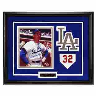 Sandy Koufax L.A Dodgers 20x16 Framed signed GFA
