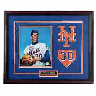 Nolan Ryan New York Mets 20x16 Framed Signed GFA