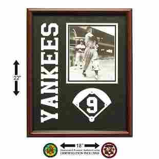 Hank Bauer New York Yankees Framed Signed GFA