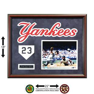 Don Mattingly New York Yankees Signed Framed GFA