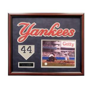 Reggie Jackson New York Yankees Framed Signed GFA