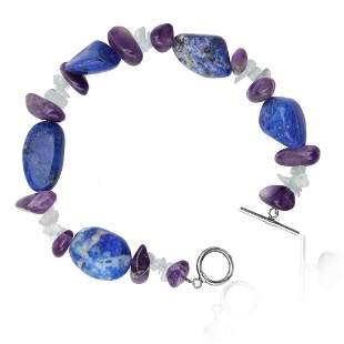 Multi Gemstone Bracelet with toggle Clasp