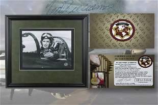 Ted Williams Navy 17x16 autograph GFA