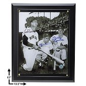 MLB Hall Of Fame Legends Signed 8x10 Plaque