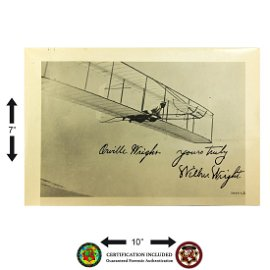 ORVILLE & WILBUR WRIGHT SIGNED B&W PHOTOGRAPH