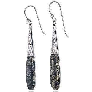 Sterling Silver Apache Gold Drop Earrings
