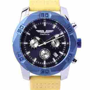 Deporte D-T Silver On Blue Men's Sport Watch