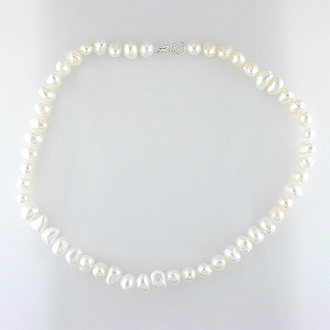 """Sterling Silver Pearl Necklace 20"""""""