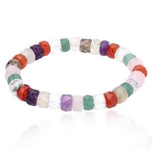 Multi Gemstone Stretch Bracelet