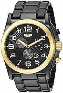 Vestal men's De Novo Black/Gold Watch