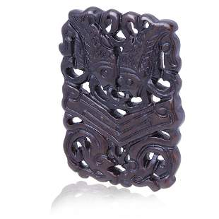 Intricate Carved Amulet Genuine Loose Stone
