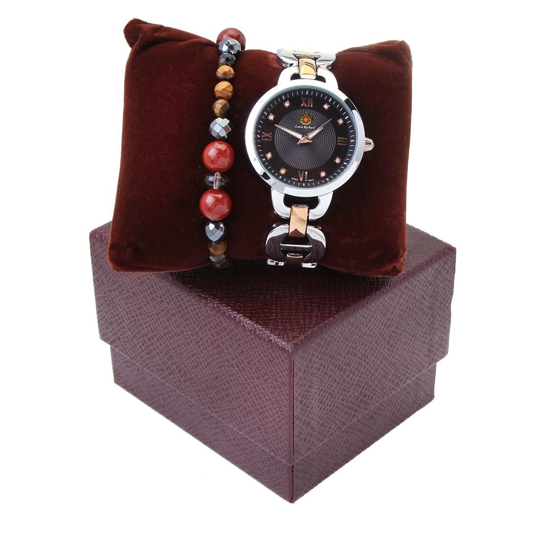 Louis Richard Watch -Two Tone/Rose Gold & Bracelet