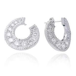 Sterling Silver White CZ Earrings
