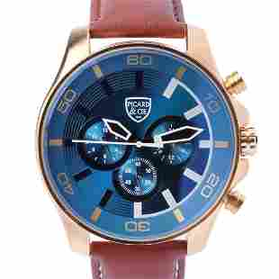 Picard & Cie Excalibur D-T Gold On Blue Mens Watch