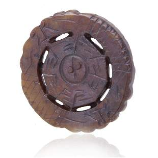 Natural Stone Feng Shui Medallion Loose Stone