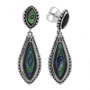 Sterling Silver Abalone Shell Drop Earrings