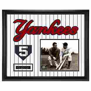 Joe DiMaggio New York Yankees Gallery Frame Signed