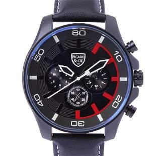 Picard & Cie Excalibur D-T Black On Black Men's Watch