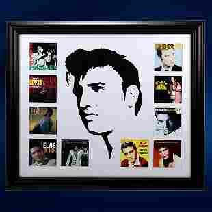 Elvis Presley Album Record Collage 24x20 Framed