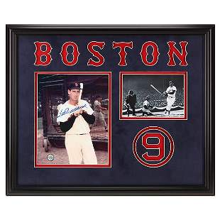 Ted Williams Boston Red Sox Signed Framed GFA