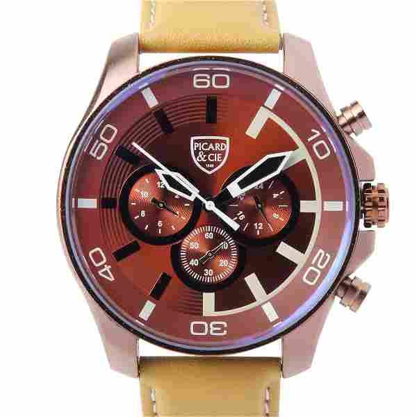 Picard & Cie Excalibur D-T Brown Men's Watch