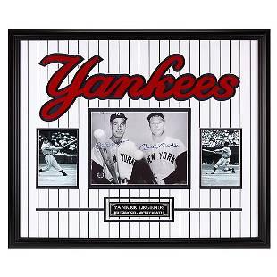 Joe DiMaggio & Mickey Mantle Yankee Greats Signed