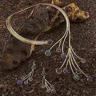 Tara Mesa Multi Stone Necklace & Earrings Set