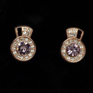 18K Rosegold Tone Swarovski Elements Stud Earrings