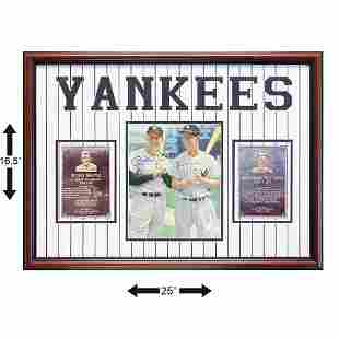 Mickey Mantle & Billy Mantle Yankees Legends Signed