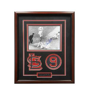 Enos Slaughter St Louis Cardinals 20x16 Signed GFA