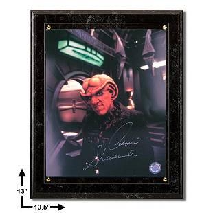 Armin Shimmerman Star Trek:Marbel Plaque Signed 8x10v