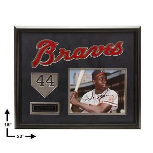 Hank Aaron Atlanta Braves 20x16 autograph GFA