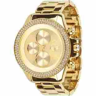 Vestal Swarovski Gold Watch