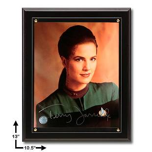 Terry Ferrell Star Trek:10.5x13 Black Plaque Signed