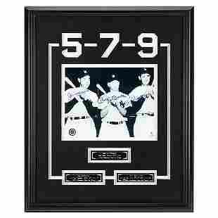 DiMaggio-Mantle-Williams 20x16 Baseball Legends GFA