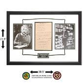 Albert Einstein Signed Equation Page
