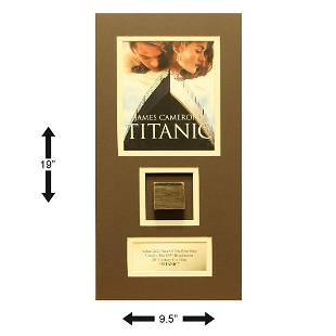 Titanic Acutal 2x2 Piece Of The Movie Prop Ship