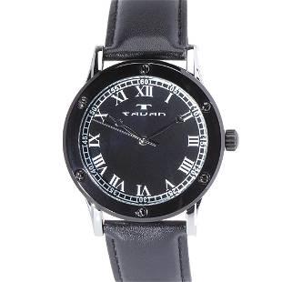 Tavan Sophisticate Silver and Black Mens Watch