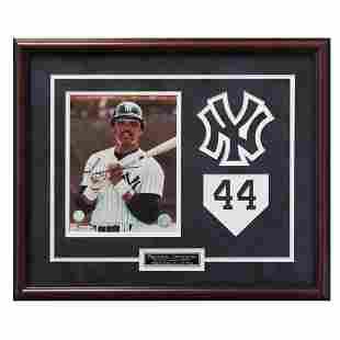 Reggie Jackson New York Yankeed Framed Signed GFA