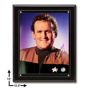 Colm Meaney Star Trek:10.5x13 Black Plaque Signed 8x10v