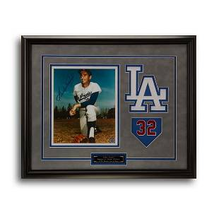 Sandy Koufax L.A Dodgers Signed Baseball Shadowbox