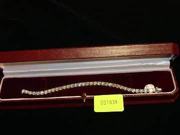 1631: Rhodium Plated White Gold, Diamond Tennis Bracele