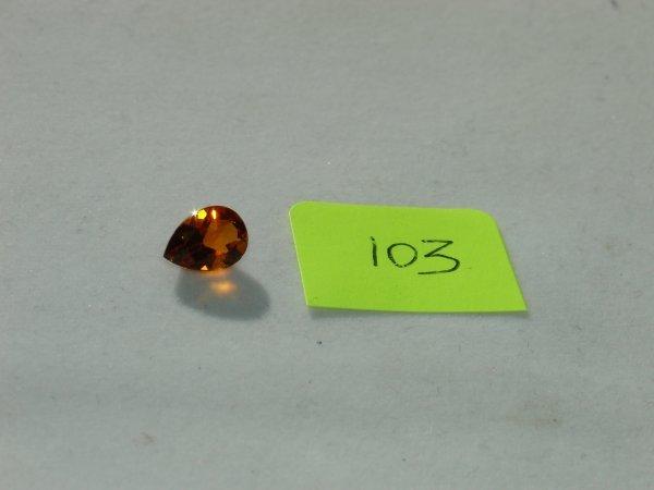 203: Madeira Citrine Semi Precious Loose Stone Certifie